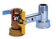 BALL VALVES BRACKET AND VALVE FOR GAS METERS PN16